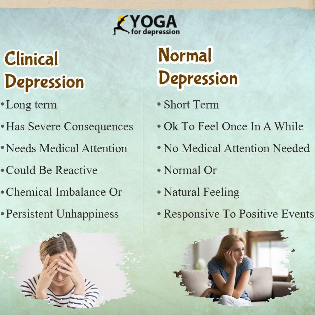 clinical depression vs normaldepression