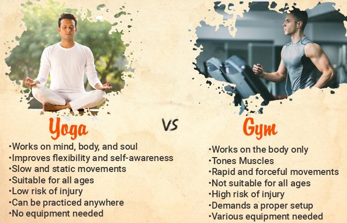 yoga vs gym