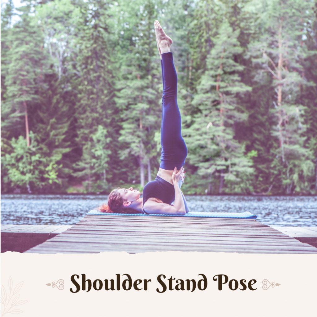 Shoulder stand pose